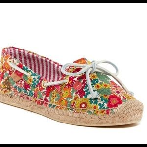 Sperry Espadrille Womens 7.5 Floral Katama Pink